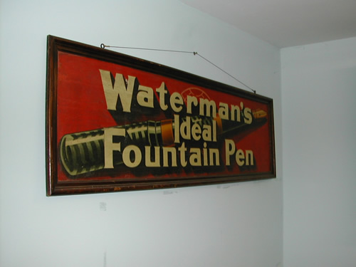 bensreckyard ebay photo Wooden Waterman\\\'s advertising board 2