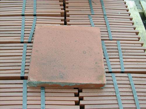 bensreckyard ebay photo Clay quarry tile 9x9 inch in red 6