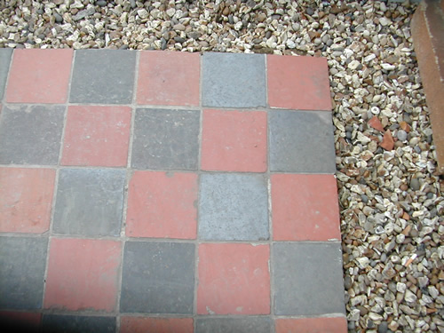 bensreckyard ebay photo Quarry tile Red and Black 6 x 6 inch 2