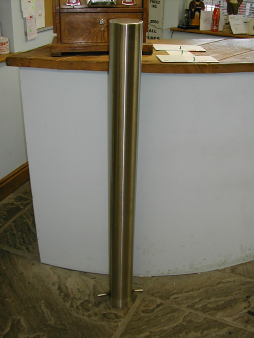 bensreckyard ebay photo Stainless steel parking bollard - parking post 6