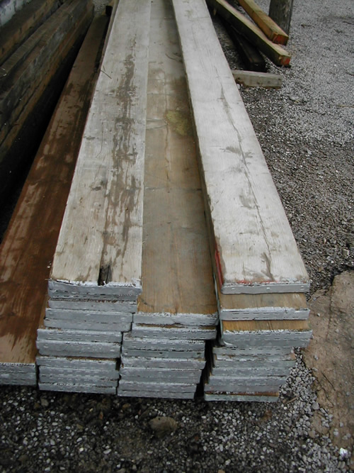 bensreckyard ebay photo Old scaffolding boards Size 3.9 metre long x 220mm wide x 35mm thick 3