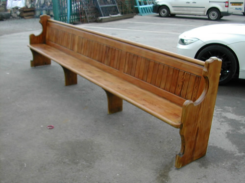 bensreckyard ebay photo Waxed Church pew 20