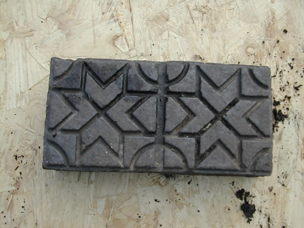 bensreckyard ebay photo Clay Starburst paver in blue/black 4