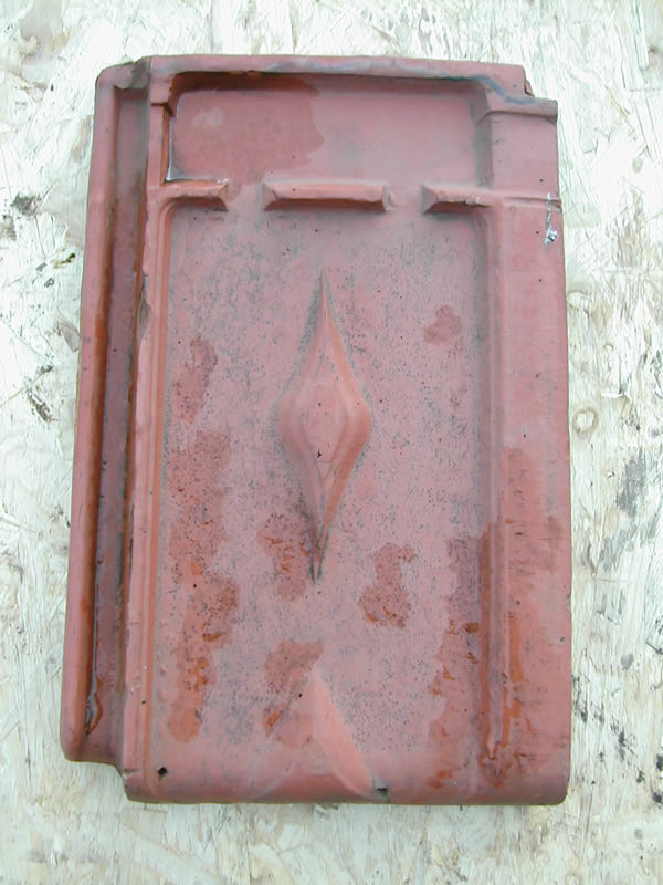 bensreckyard photo Clay roof tile with diamond pattern