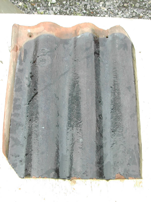 bensreckyard photo clay triple roman tile in black glazed