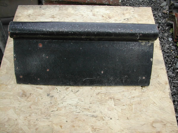 bensreckyard ebay photo Clay ridge tile 18 inch long with roll top in black glazed 23
