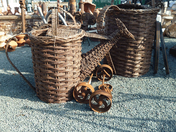 wicker watering can